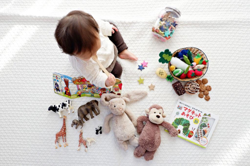 masser af legetøj